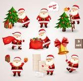 Санта Клаус идя к рождеству торжества Стоковые Изображения