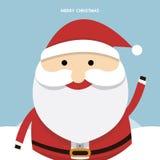 Санта Клаус на голубой предпосылке также вектор иллюстрации притяжки corel Стоковое Изображение RF