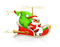 Санта Клаус на иллюстрации розвальней Стоковое Изображение RF