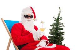 Санта Клаус на каникулах стоковые изображения