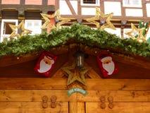 Санта Клаус на крыше Стоковая Фотография RF