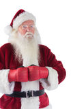 Санта Клаус носит перчатки бокса Стоковое Изображение RF