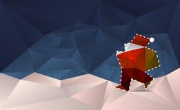 Санта Клаус отрезал вне карточку иллюстрация вектора
