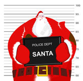 Санта Клаус побитый на Управлении полиции Бой рождества Плохой Sa Стоковые Фотографии RF