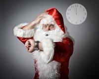 Санта Клаус последний Концепция быть последний Стоковое Изображение RF