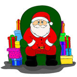 Санта Клаус сидит в стуле Стоковая Фотография RF