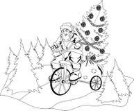 Санта Клаус скачет из торта Стоковые Фото