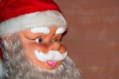 Санта Клаус смотрит на близко вверх по детали Стоковое Изображение