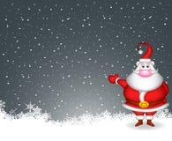 Санта Клаус с предпосылкой снежка бесплатная иллюстрация