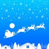 Санта Клаус с рождеством северного оленя бесплатная иллюстрация
