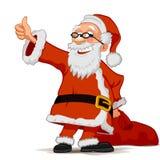Санта Клаус с сумкой Стоковые Изображения RF