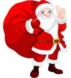Санта Клаус с сумкой иллюстрация штока