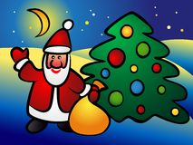 Санта Клаус Иллюстрация штока