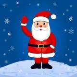 Санта на предпосылке зимы Стоковое Изображение