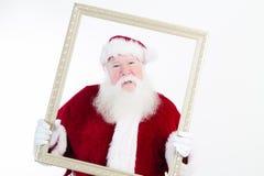 Санта обрамлено стоковые фотографии rf