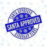 Санта одобрило поцарапанное круглое уплотнение печати на Новый Год бесплатная иллюстрация