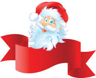 Санта с лентой Стоковое Изображение