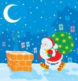 Санта с подарками рождества Стоковая Фотография
