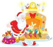 Санта с подарками Стоковое фото RF
