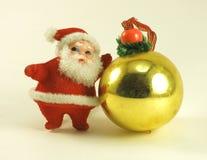 Санта с шариком стоковое фото