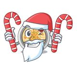 Санта с buchimgae конфеты зажарено в лотке характера иллюстрация штока