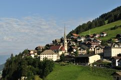 Санта Cristina di Valgardena, Trentino-альт Адидже, Dolomiten, Италия Стоковые Фотографии RF