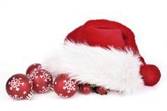 Санта klaus и безделушки рождества стоковые изображения