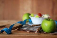 Сантиметр яблока плодоовощ диеты завтрака Стоковое Изображение