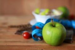 Сантиметр яблока плодоовощ диеты завтрака Стоковое Фото