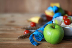 Сантиметр яблока плодоовощ диеты завтрака Стоковое фото RF