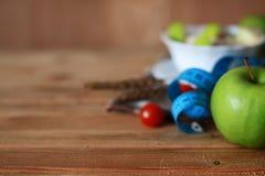 Сантиметр яблока плодоовощ диеты завтрака Стоковое Изображение RF