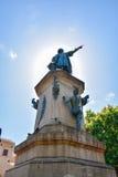 Санто Доминго, Доминиканская Республика Известная статуя Christopher Columbus в парке Колумбуса Стоковые Фотографии RF