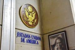 Санто Доминго, Доминиканская Республика Стойка США Музей внутри маяка Christopher Columbus Стоковое Изображение