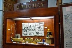 Санто Доминго, Доминиканская Республика Стойка Уругвая Музей внутри маяка Christopher Columbus Стоковое Изображение RF