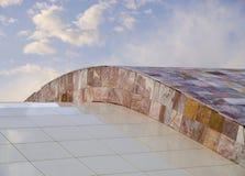 САНТЬЯГО DE COMPOSTTELA, ИСПАНИЯ - 13-ОЕ НОЯБРЯ: Город культуры 1 Стоковые Изображения RF