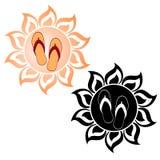 Сандалии в солнце Стоковые Фотографии RF