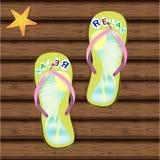 сандалии flops flip пляжа предпосылки изолированные иллюстрацией установили вектор белым Стоковое Фото