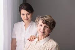Сан важен в заботе для более старых людей Стоковые Изображения RF