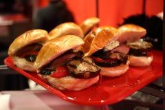 Сандвичи баклажана и гриба Стоковое фото RF