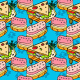 Сандвичи и cheeseburger Стоковые Изображения RF