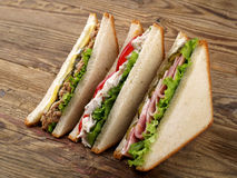 Сандвичи клуба стоковое изображение
