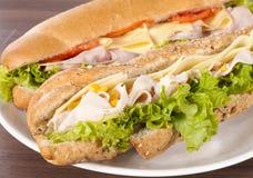 Сандвичи на плите Стоковые Изображения RF