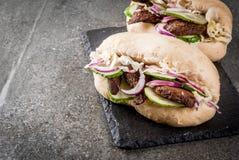 Сандвичи плюшек Bao стоковое изображение