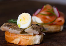 Сандвичи с рыбами Стоковое Изображение RF