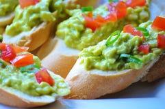 Сандвичи с сливк-затиром авокадоа Стоковое Изображение RF
