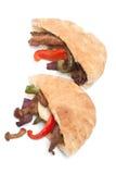 Сандвичи хлеба пита Стоковая Фотография