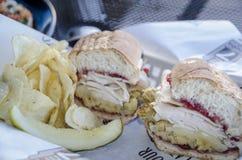 Сандвич благодарения Стоковая Фотография
