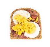 Сандвич вареного яйца Стоковое Изображение