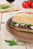 Сандвич ветчины Стоковое Изображение