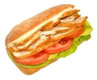 сандвич жаркого цыпленка Стоковые Фото